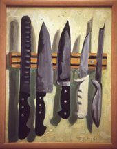 "Knives - oil on canvas, 16"" x 20"""