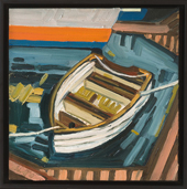 "Row Boat - oil on canvas, 12"" x 12"", 2010"